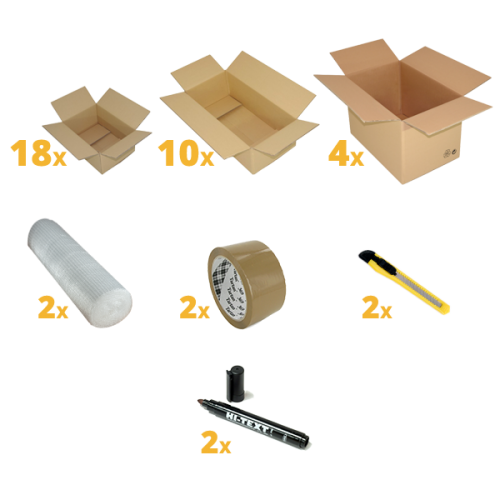 Removal Pack for 2 Bedrooms